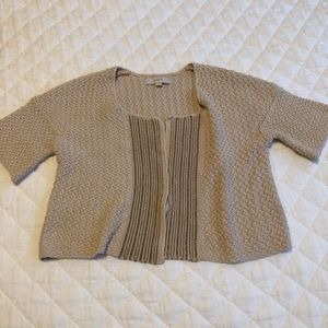 Ann Taylor Loft Cardigan with Metallic Details
